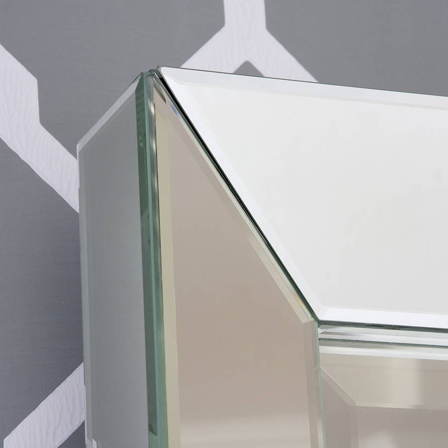 Beveled Edge Mirrors Husseini Aluminium Within Chamfered Edge Mirror (Image 4 of 15)