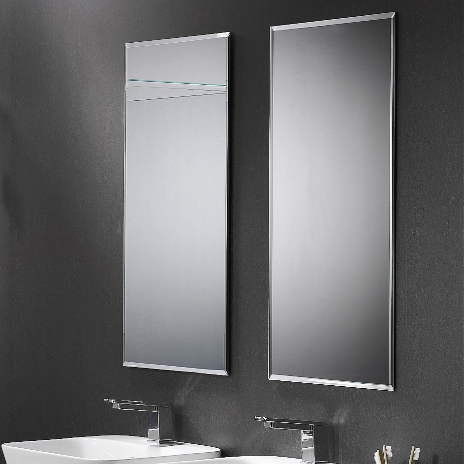 Bevelled Edge Mirror Athena Bathrooms In Black Bevelled Mirror (Image 1 of 15)