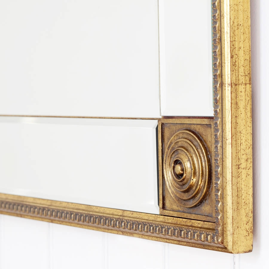 Bevelled Gold Full Length Mirror Decorative Mirrors Online Intended For Full Length Gold Mirror (Image 4 of 15)
