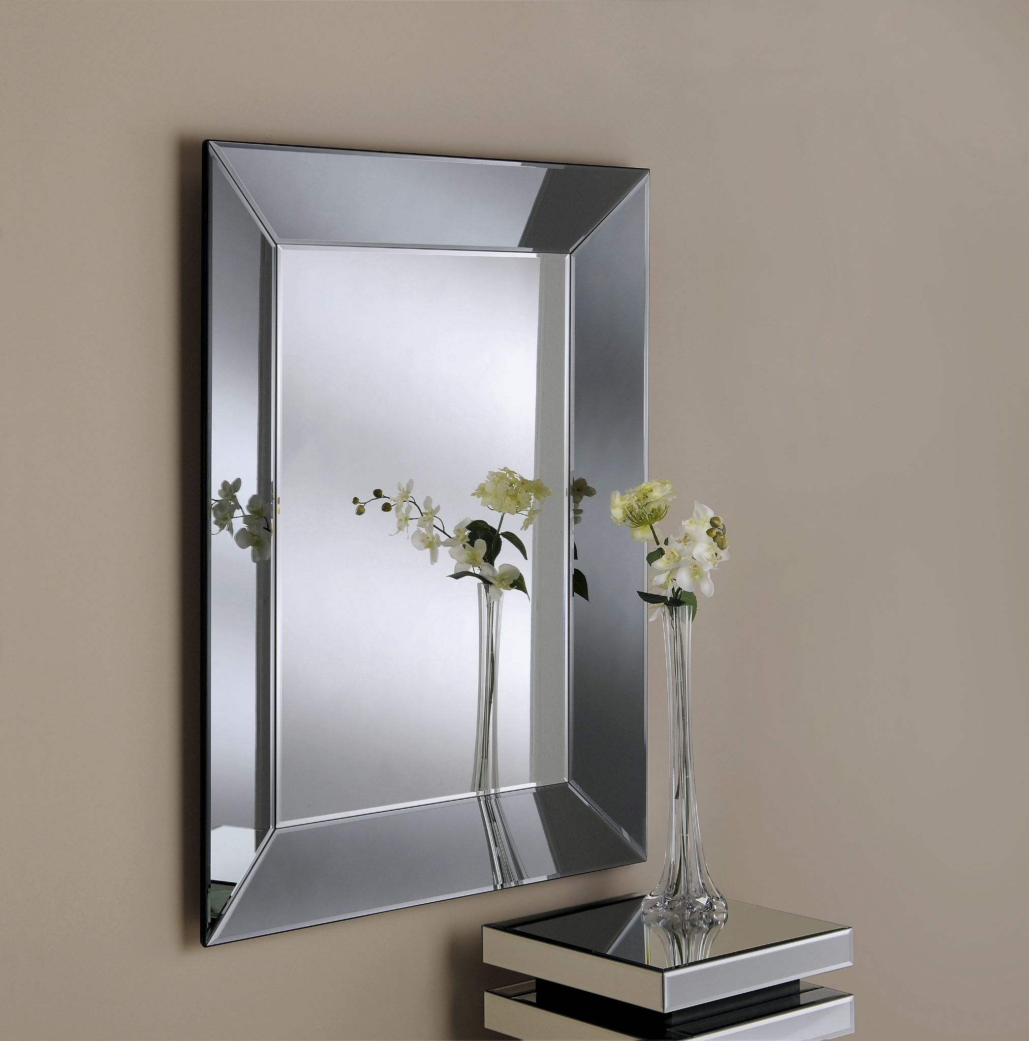 Bevelled Mirror As Indoor Decorative Touch Lgilab Modern With Bevelled Glass Mirror (Image 6 of 15)