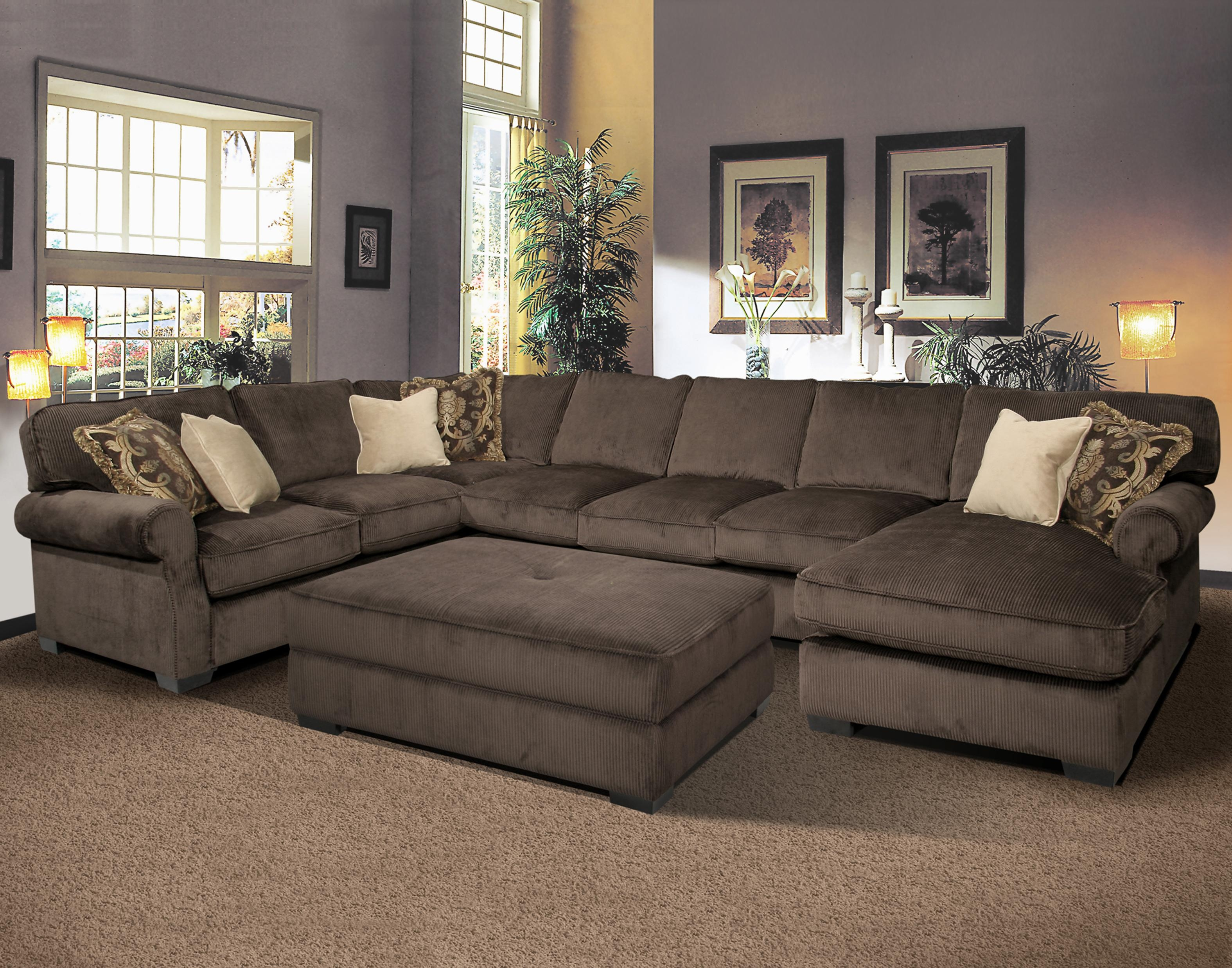 Big And Comfy Grand Island Large 7 Seat Sectional Sofa With Right Throughout Extra Large Sectional Sofas (View 8 of 15)