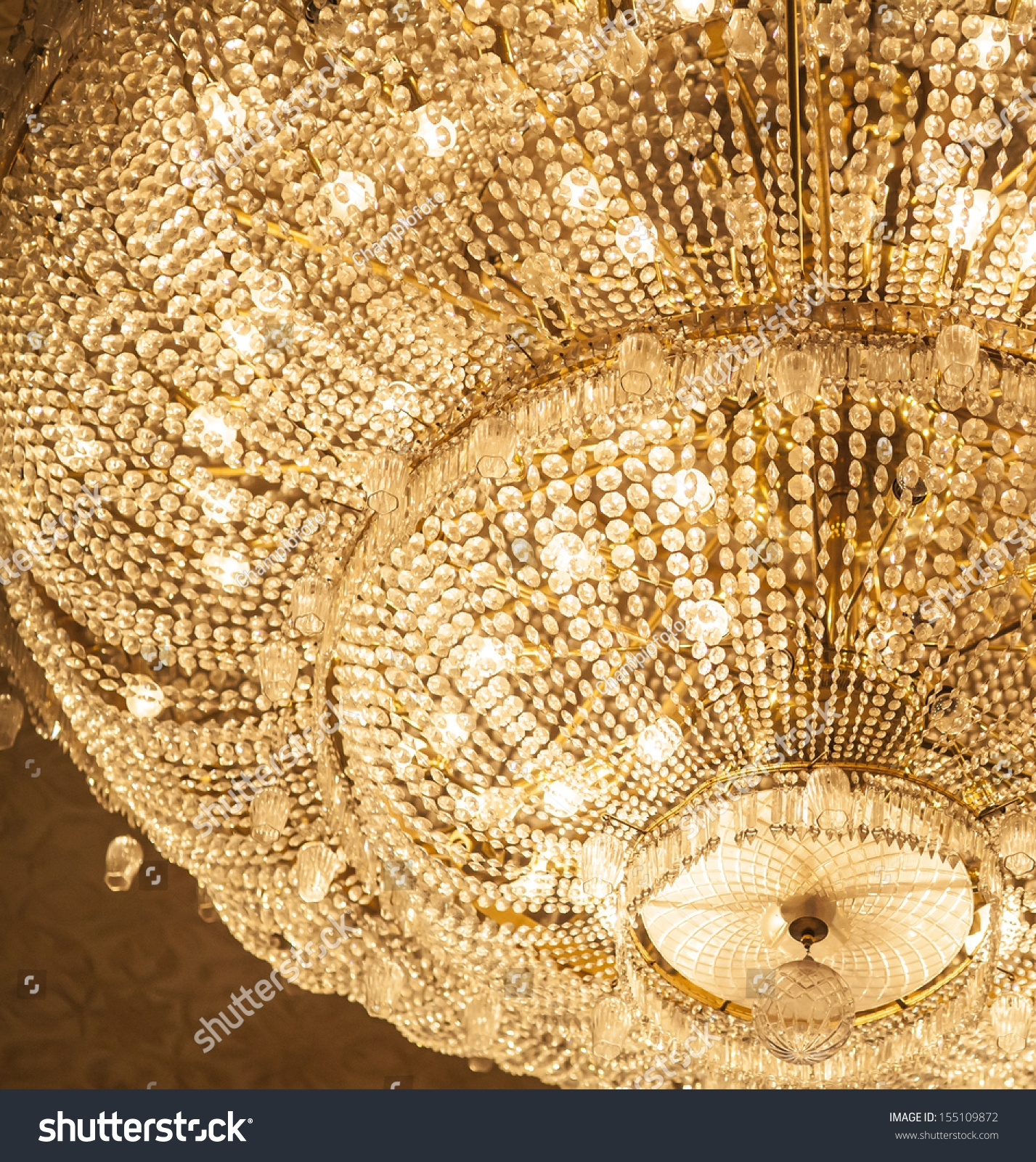 Big Crystal Chandelier Stock Photo 155109872 Shutterstock Inside Big Crystal Chandelier (Image 5 of 15)