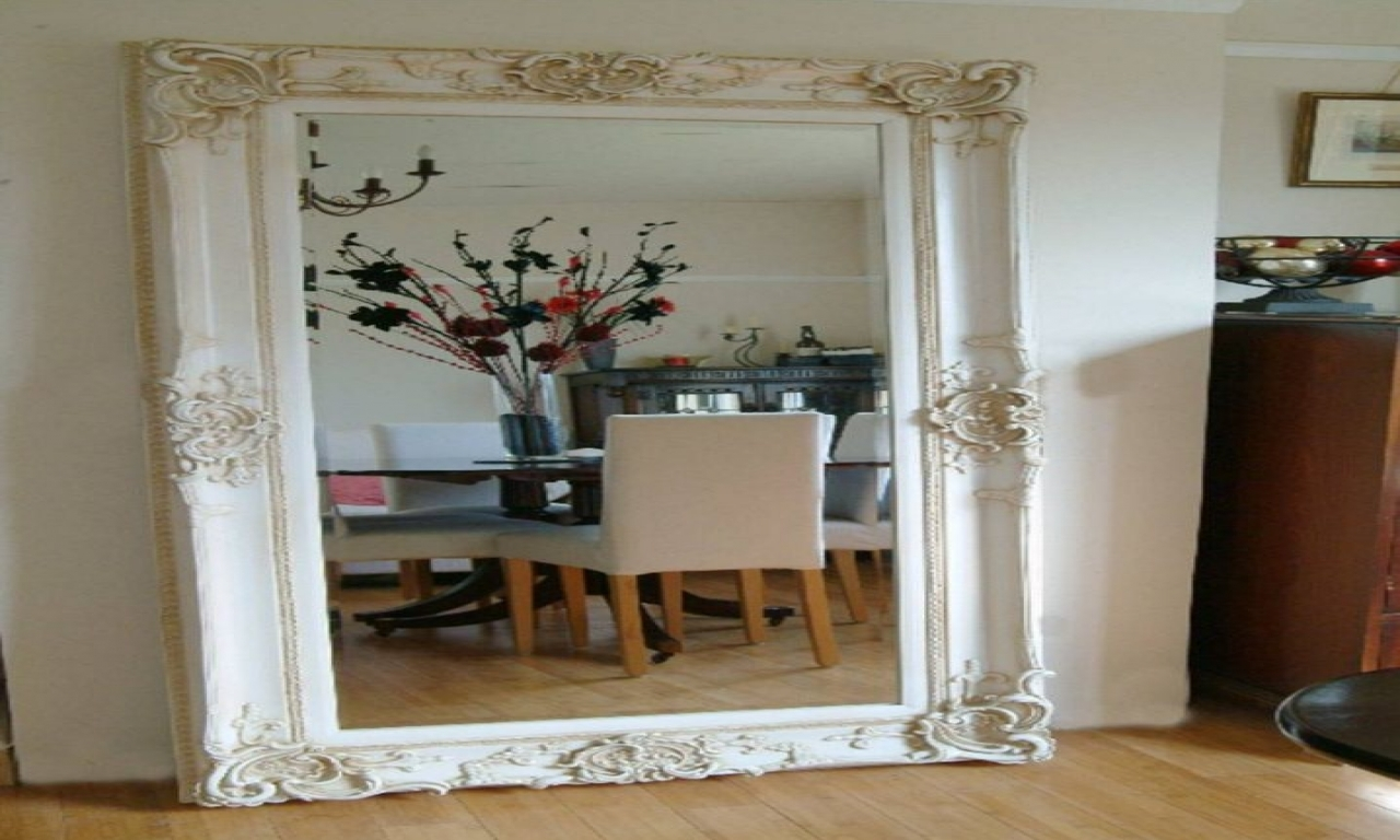 Big Decorative Mirrors Large Wall Mirror With Frame Large Within Large Wall Mirrors (Image 2 of 15)