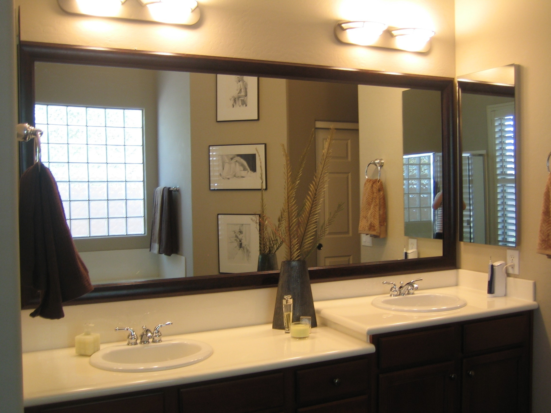 Big Mirror Frames Huge Wall Mirror With Silver Frame Wall Mirrors For Long Brown Mirror (Photo 4 of 15)