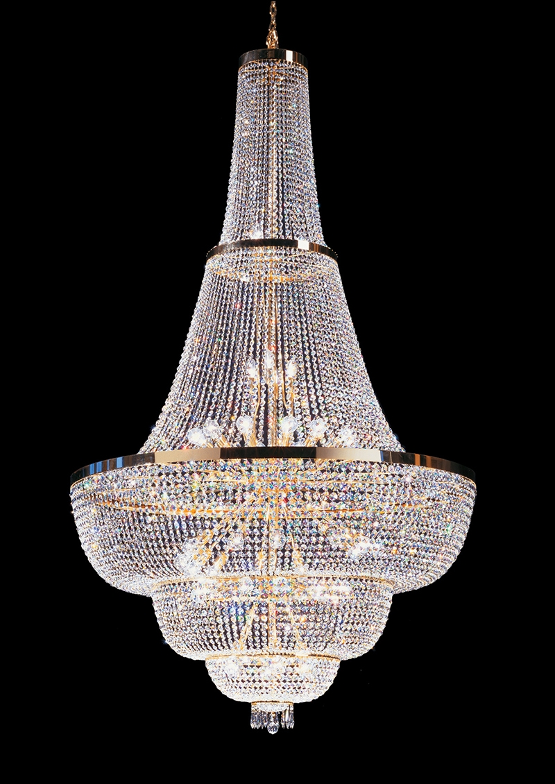 Big Modern 3 Tiers Crystal Lanternmoroccan Style Brass Chandelier In Crystal And Brass Chandelier (View 10 of 15)