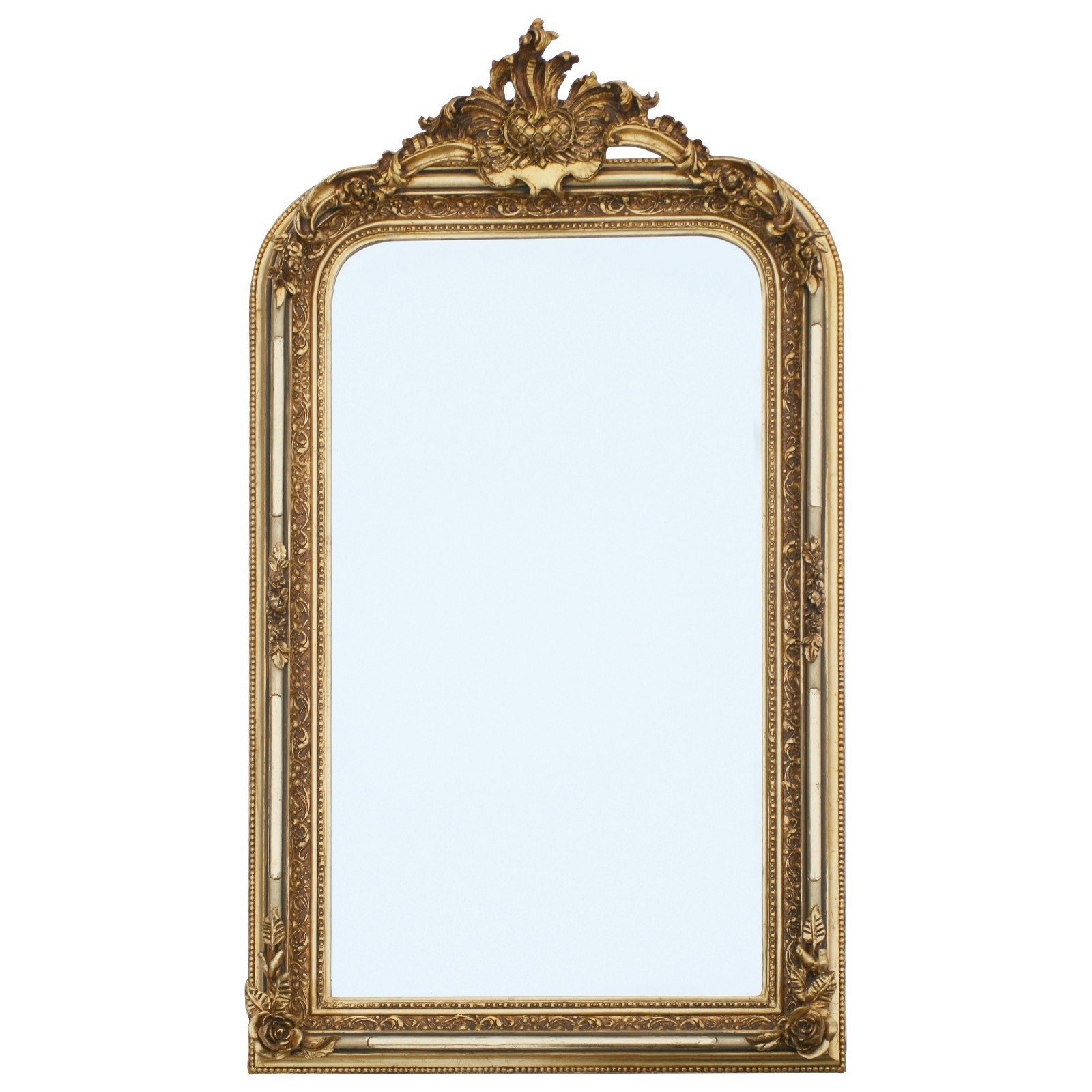 Big Pompous Luxurious Wall Mirror With Bevelled Edge In Baroque For Baroque Style Mirror (Image 7 of 15)