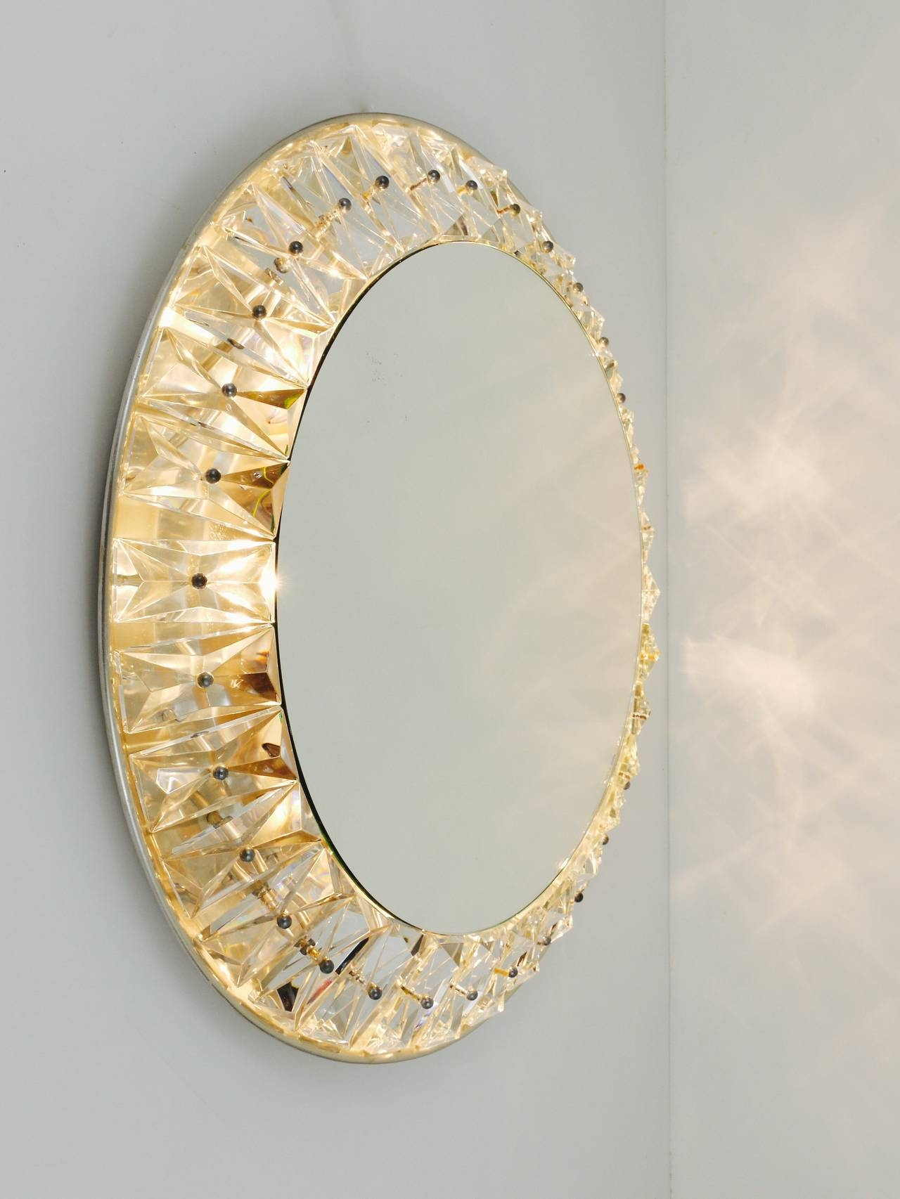 Big Round Bakalowits Backlit Wall Mirror With Huge Crystals For Huge Round Mirror (Image 9 of 15)