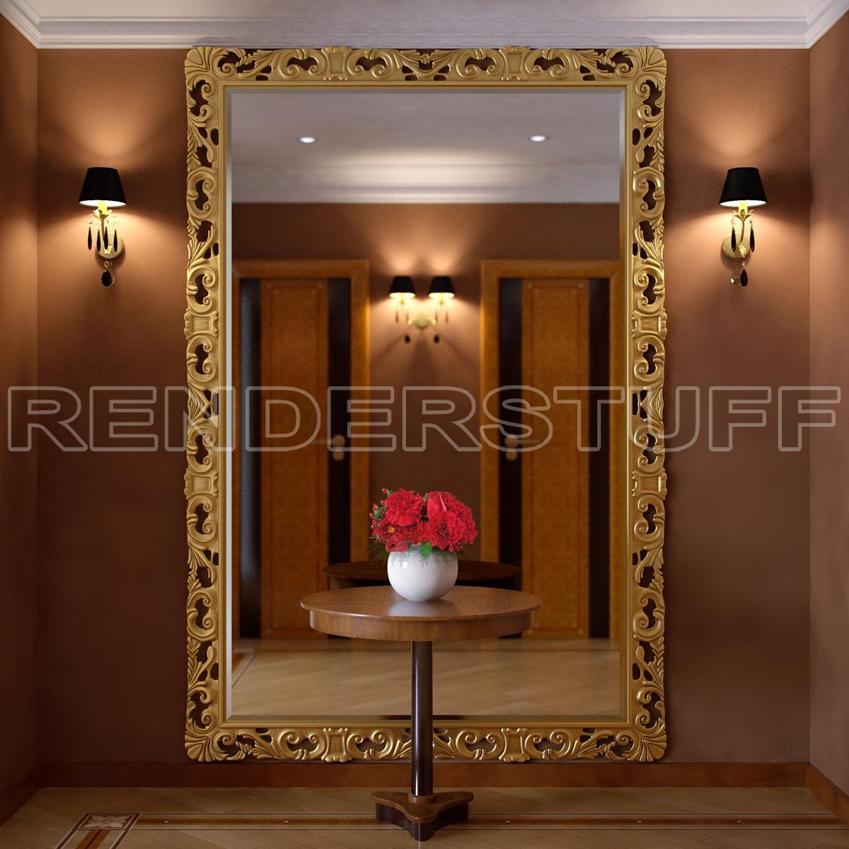 Big Wall Mirrors Astonishing Ideas Large Mirror For Wall In Big Gold Mirror (Photo 8 of 15)