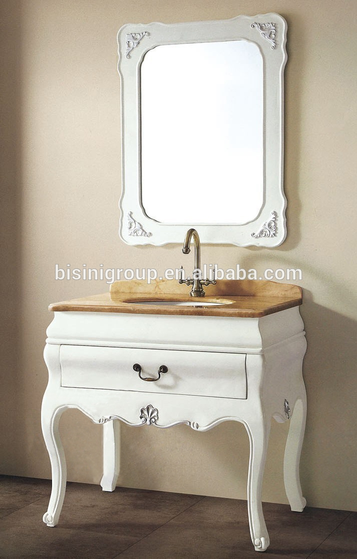 Bisini French Style Bathroom Setbathroom Mirror Vanity Cabinet With Regard To French Style Bathroom Mirror (Image 4 of 15)