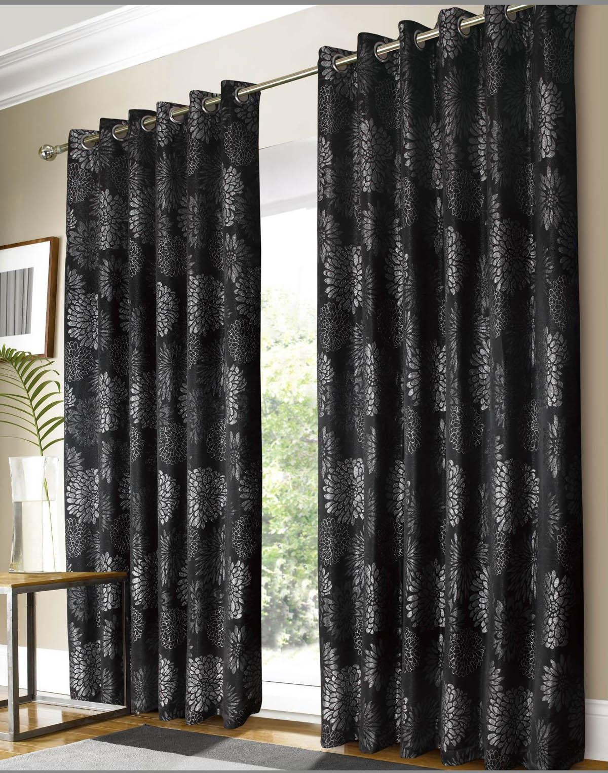 Black And Brown Curtains Home Design Ideas Gigforest Inside Black And Brown Curtains (Image 1 of 15)
