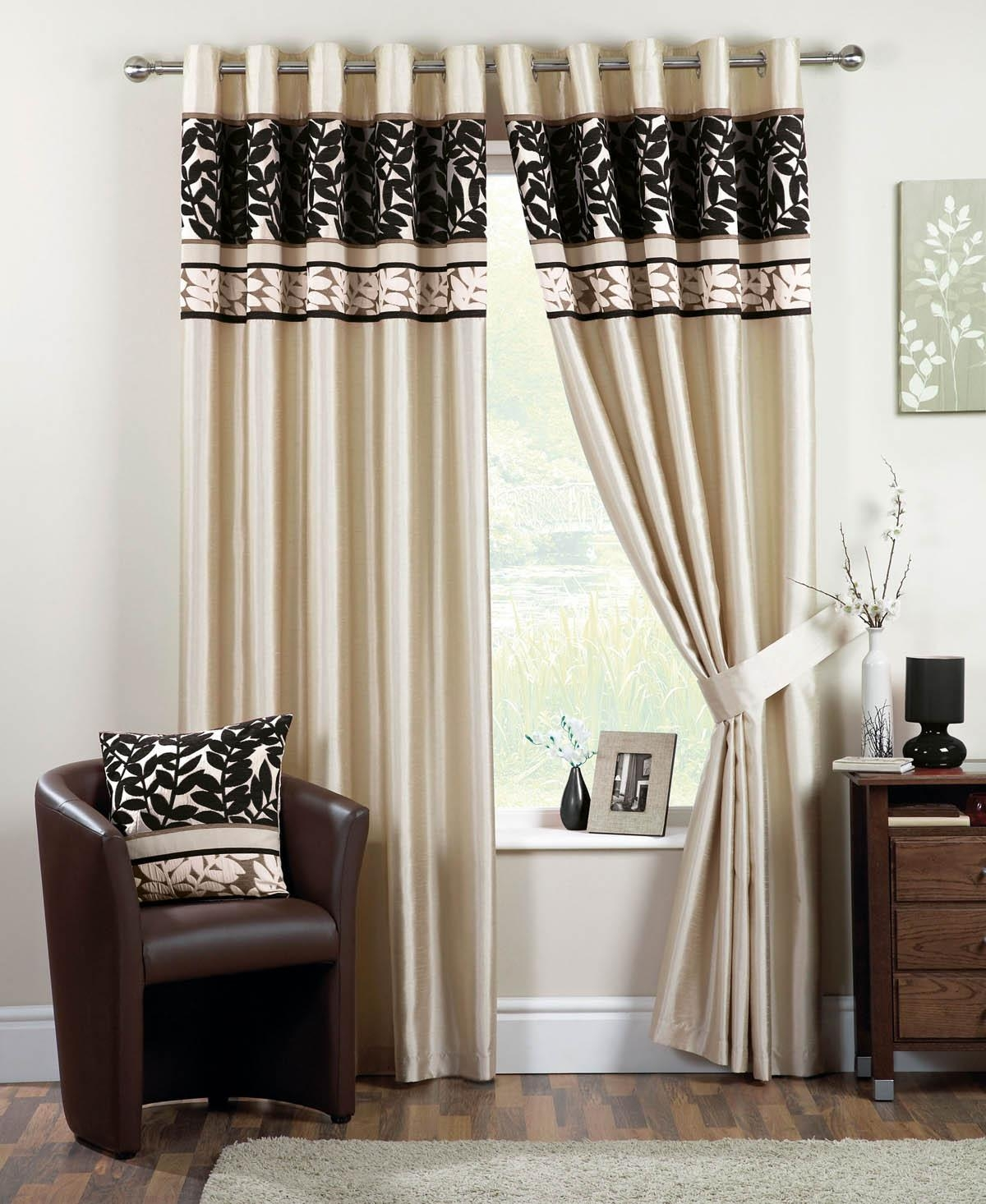 Black And Brown Curtains Home Design Ideas Gigforest Pertaining To Black And Brown Curtains (Photo 1 of 15)