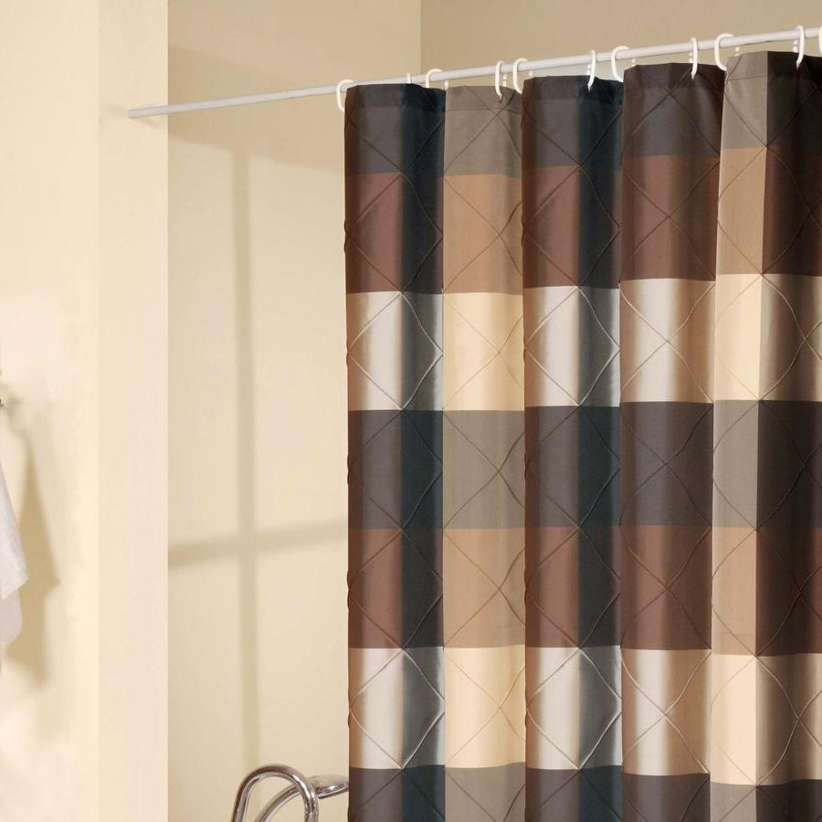 Black And Brown Shower Curtain Rickevans Homes With Black And Brown Curtains (Image 3 of 15)