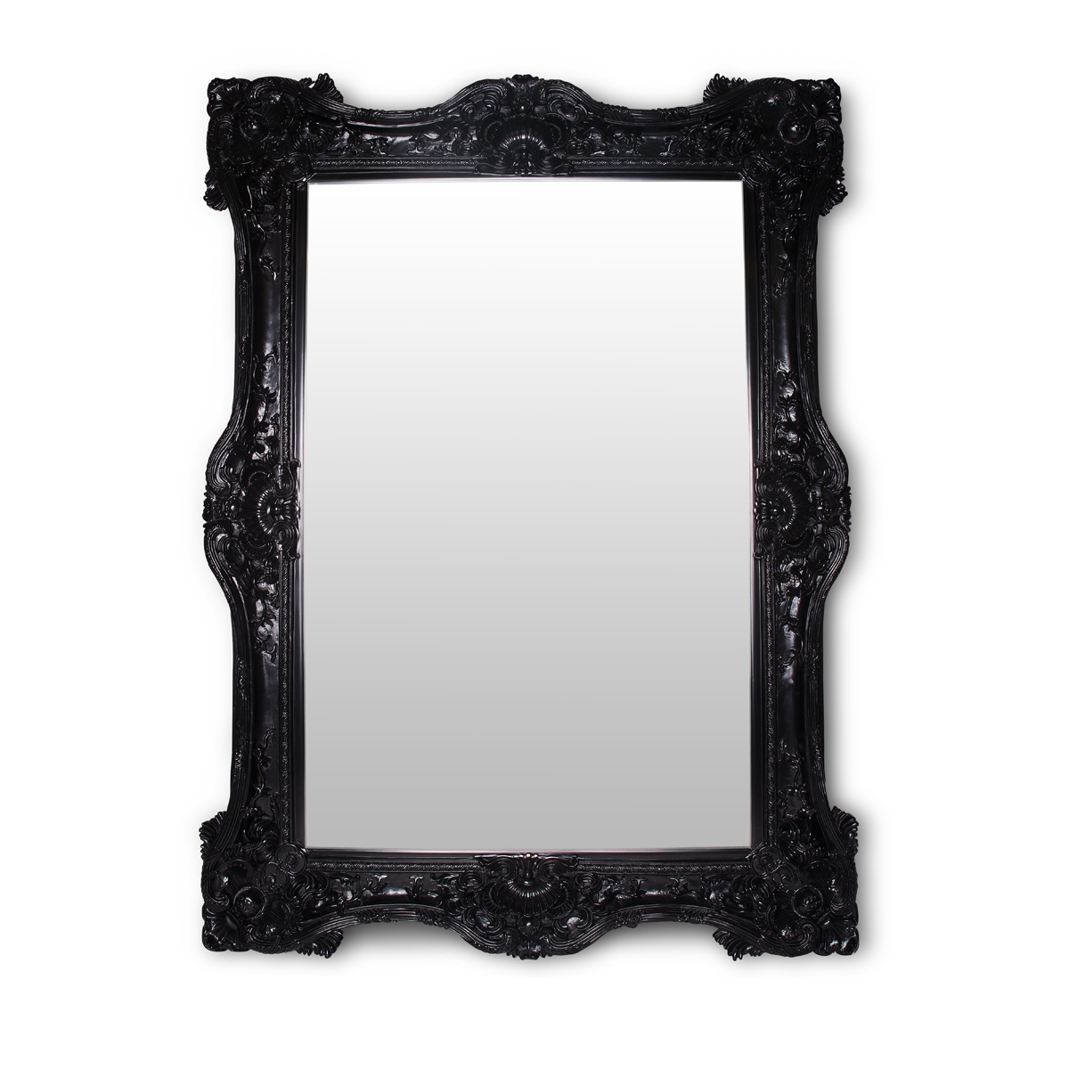 Black Baroque Mirror Glam Party Rentals Pertaining To Black Baroque Mirror (Image 8 of 15)