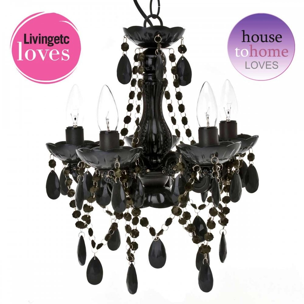 Black Chandelier For Bedroom Lightupmyparty Throughout Black Chandelier Bedroom (Image 8 of 15)