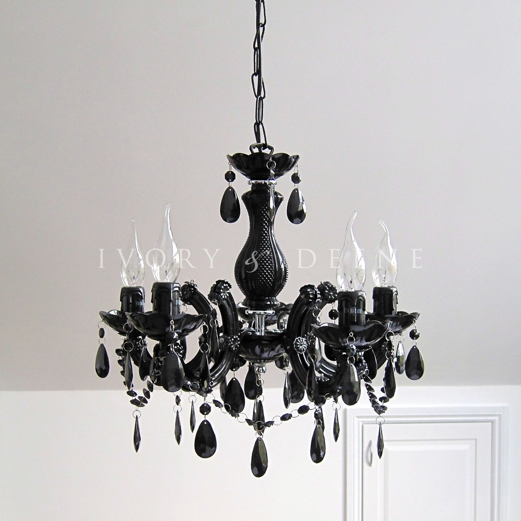 Black Chandelier Lighting Inside Modern Black Chandelier (Image 3 of 15)