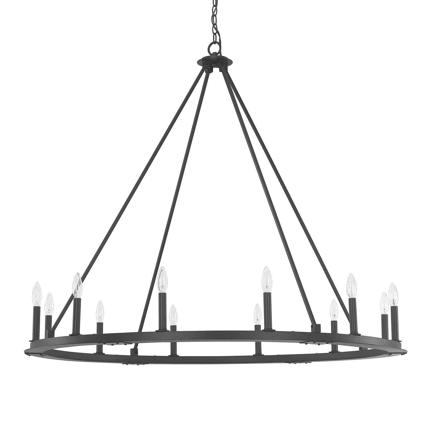 Featured Image of Black Iron Chandeliers