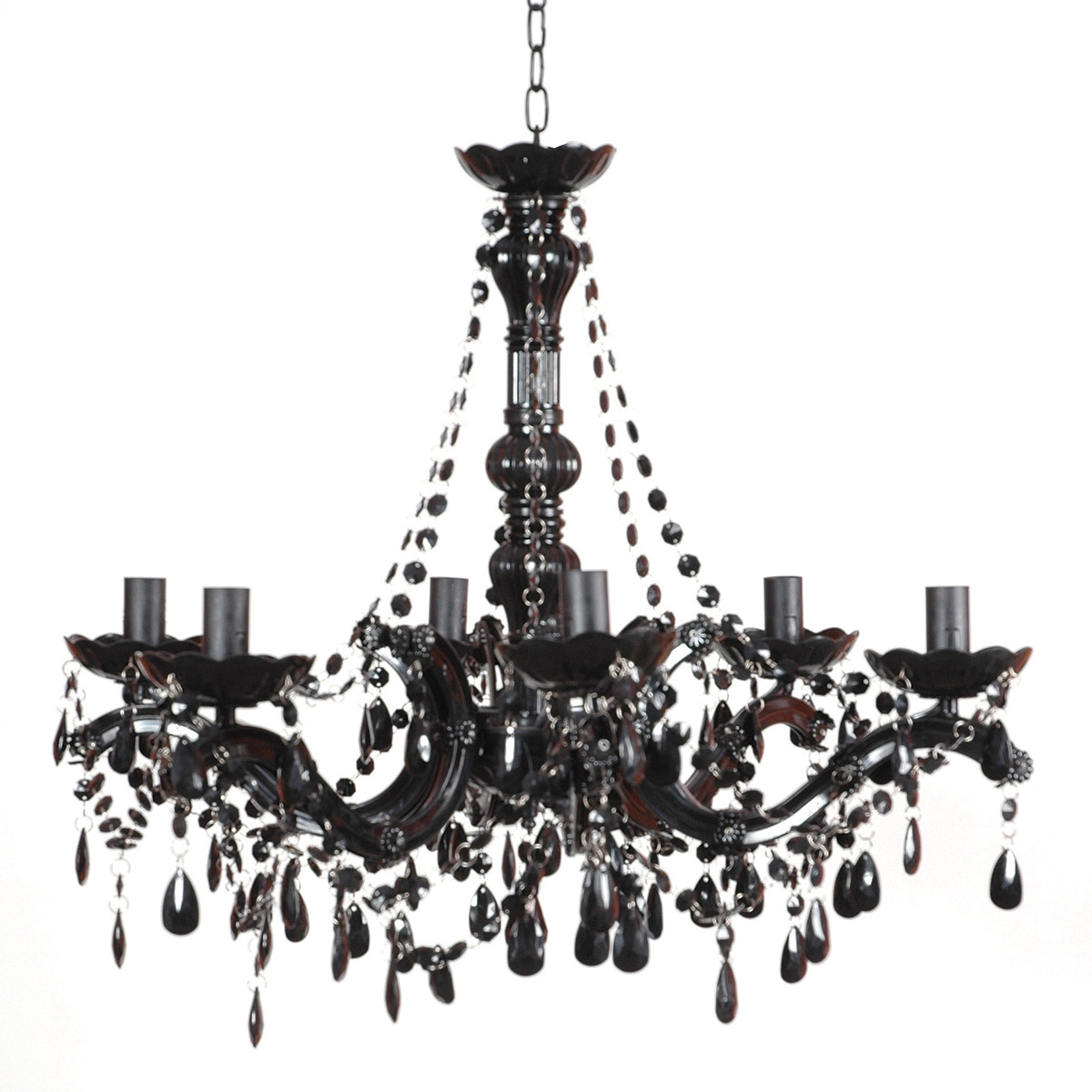 Black Chandeliers For And Chandelier Bedroom Modern Crystal Home Intended For Black Chandelier (Image 6 of 15)