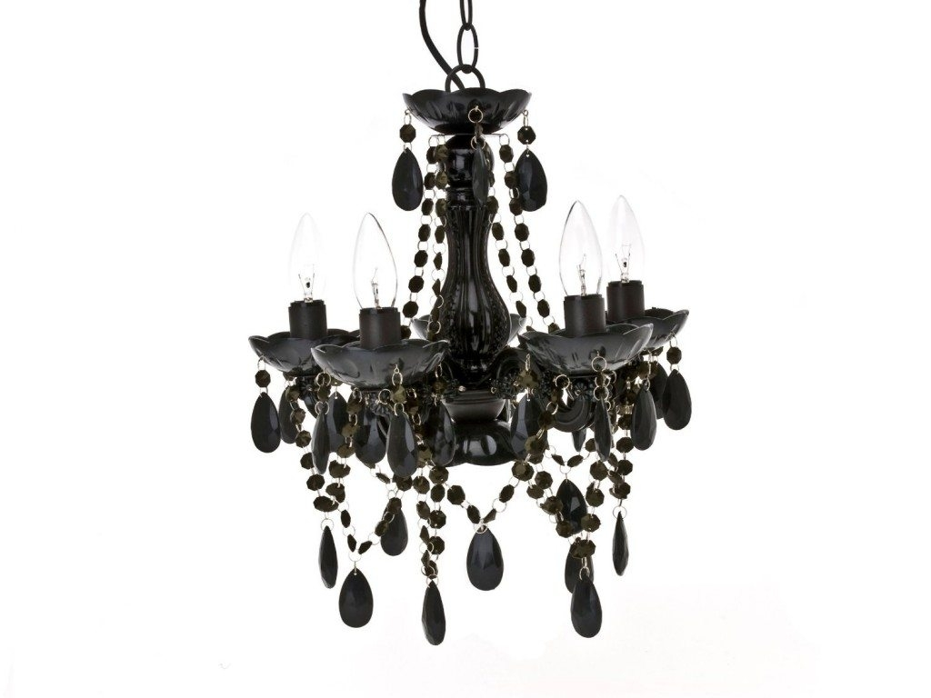 Black Chandeliers Pendant Lighting Chandelier Top Regarding Black Glass Chandelier (Image 3 of 15)