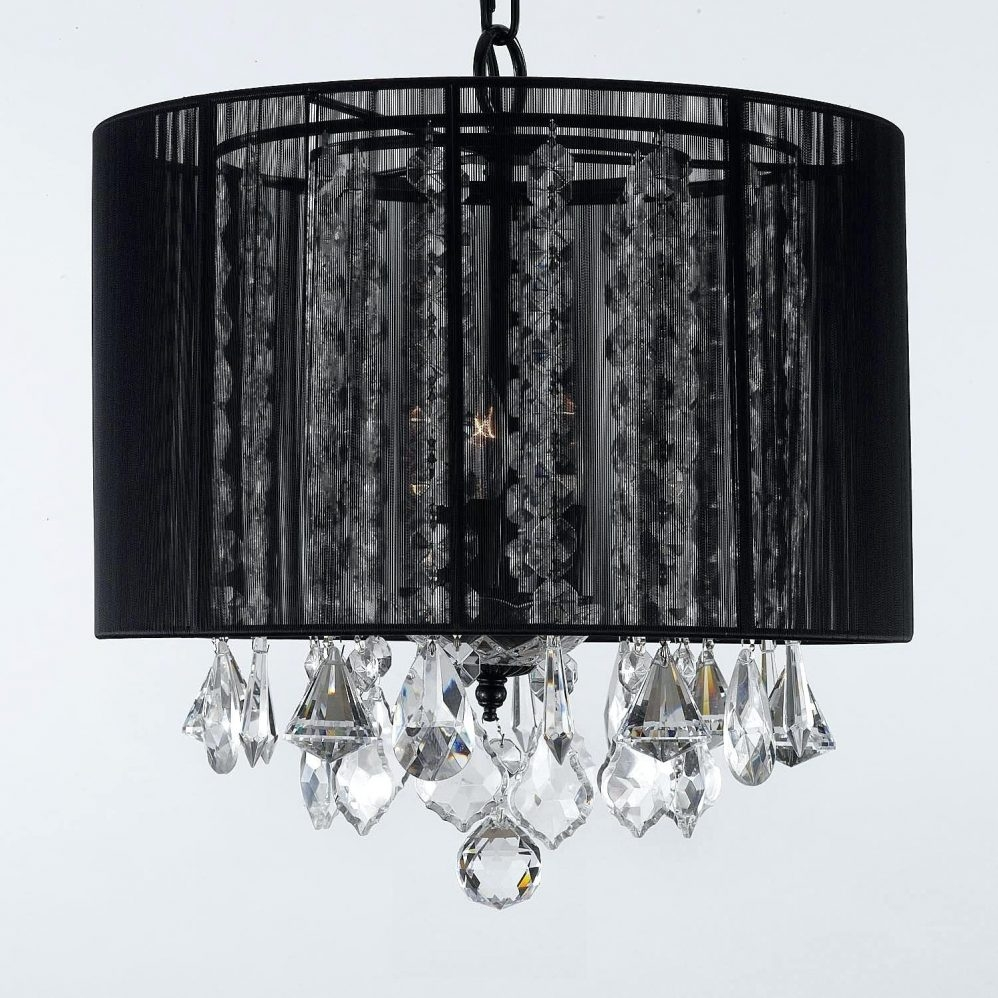 Black Crystal Chandelier Engageri Regarding Murano Chandelier Replica (Image 2 of 15)