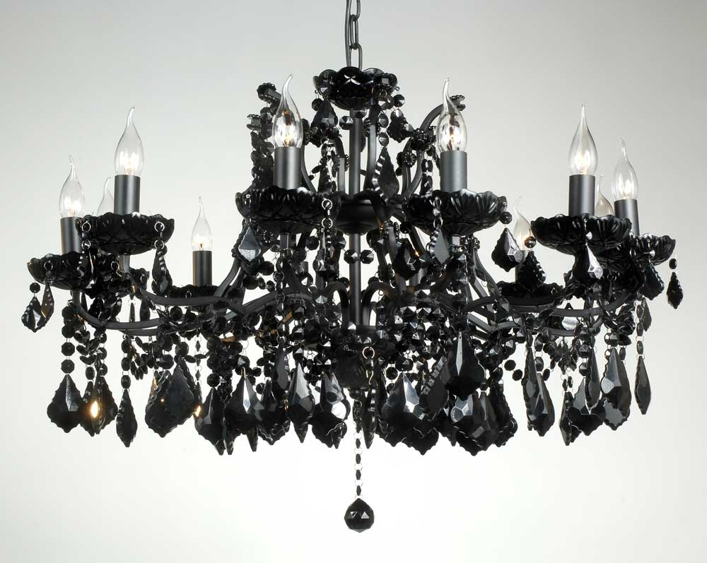 Black Crystals For Chandelier Tendr Regarding Black Chandelier (Image 8 of 15)
