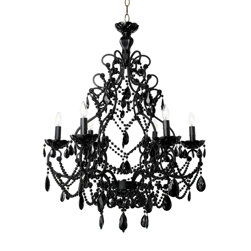 Black Florentine With Regard To Black Chandeliers (Image 9 of 15)