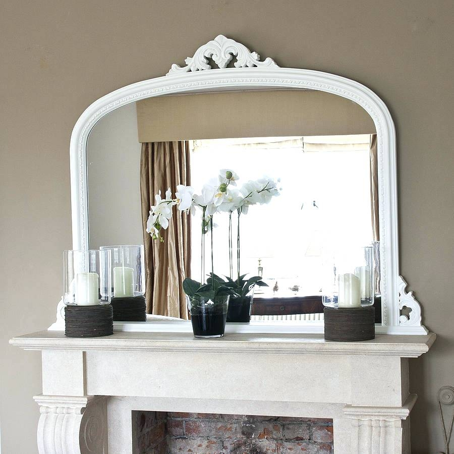 Black Frame Mirror Neo Classical Rectangle Over Mantel Decor X Intended For Large Mantel Mirror (View 4 of 15)