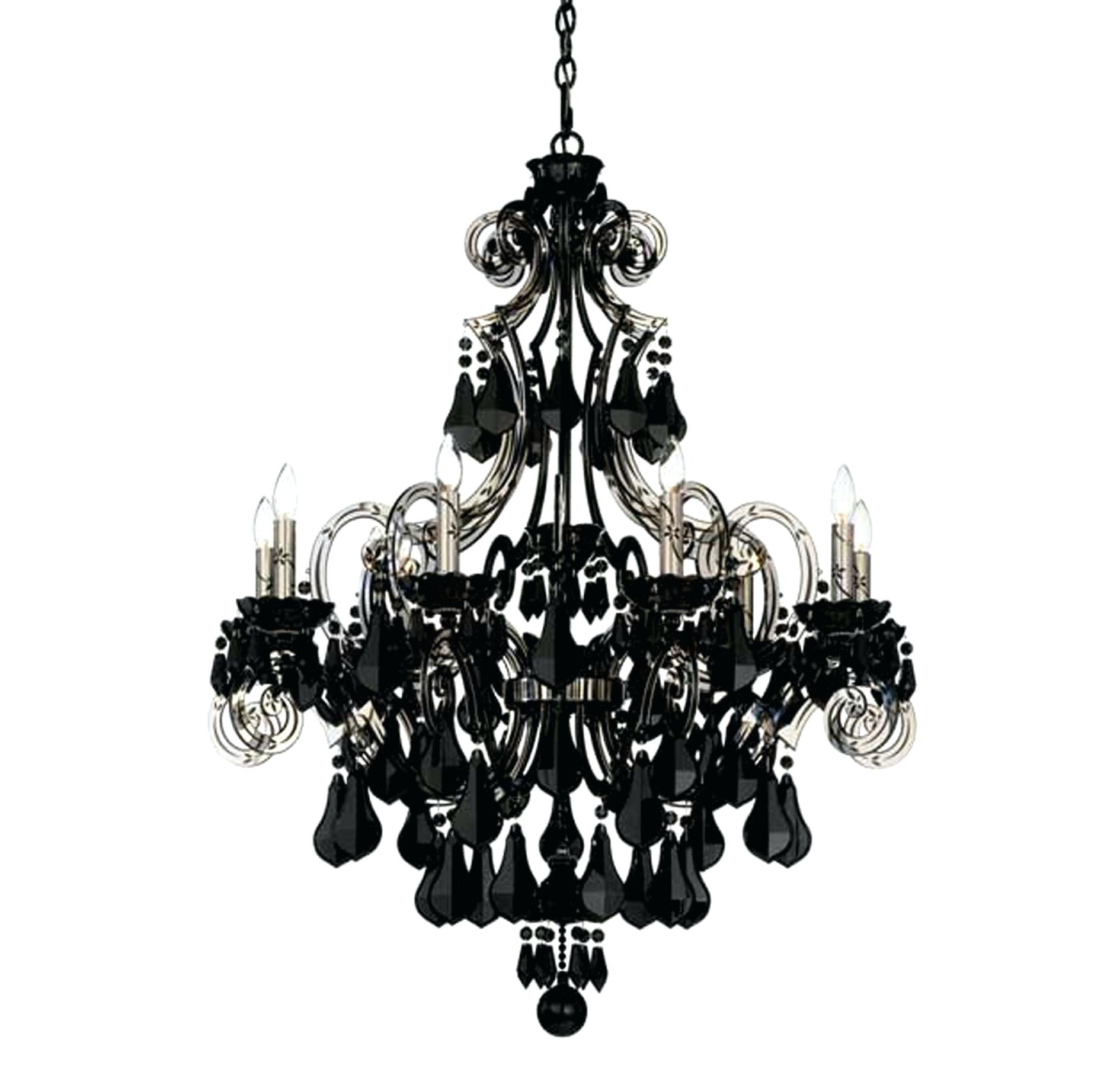 Black Mini Chandelier Engageri With Regard To Black Glass Chandelier (Image 6 of 15)