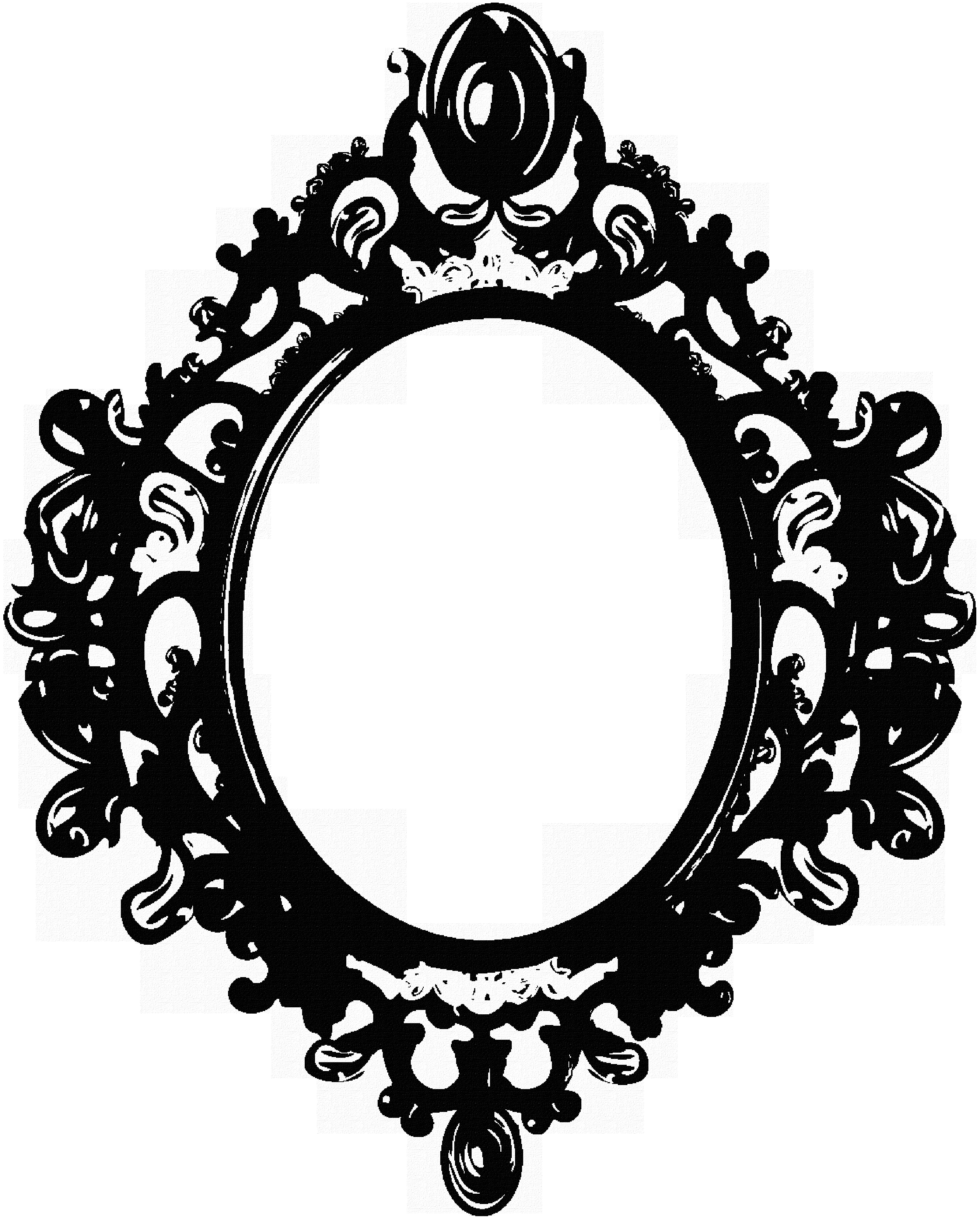 Black Mirror Frame Berrykissed On Deviantart Ambientao With Black Ornate Mirrors (Image 4 of 15)