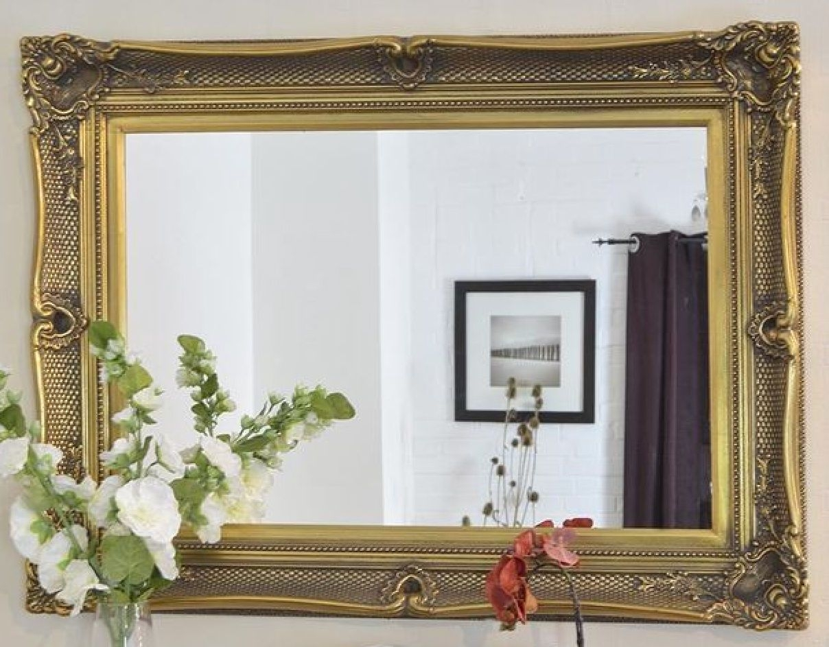 Black Mirrors Pertaining To Antique Gold Mirrors Large (Image 9 of 15)