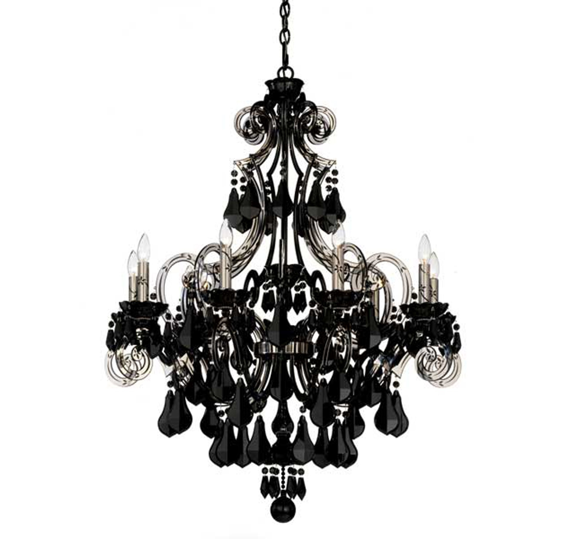 Black Modern Chandelier For Black Chandeliers (Image 10 of 15)