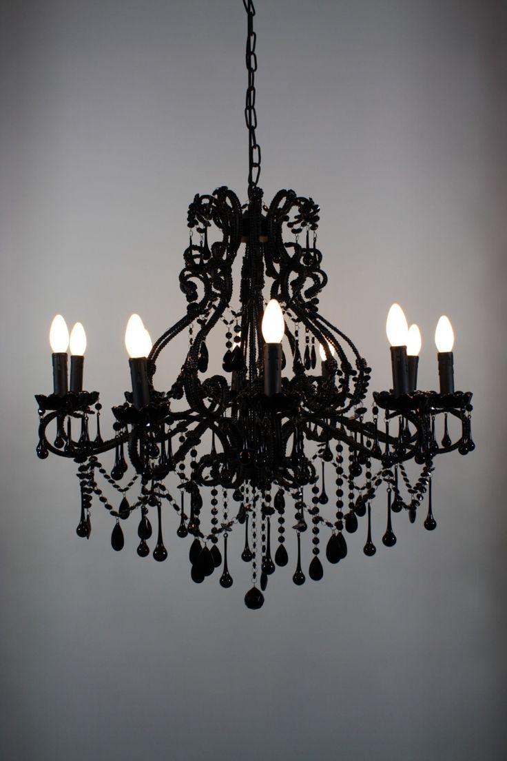 Black Modern Chandelier Pertaining To Contemporary Black Chandelier (Image 2 of 15)