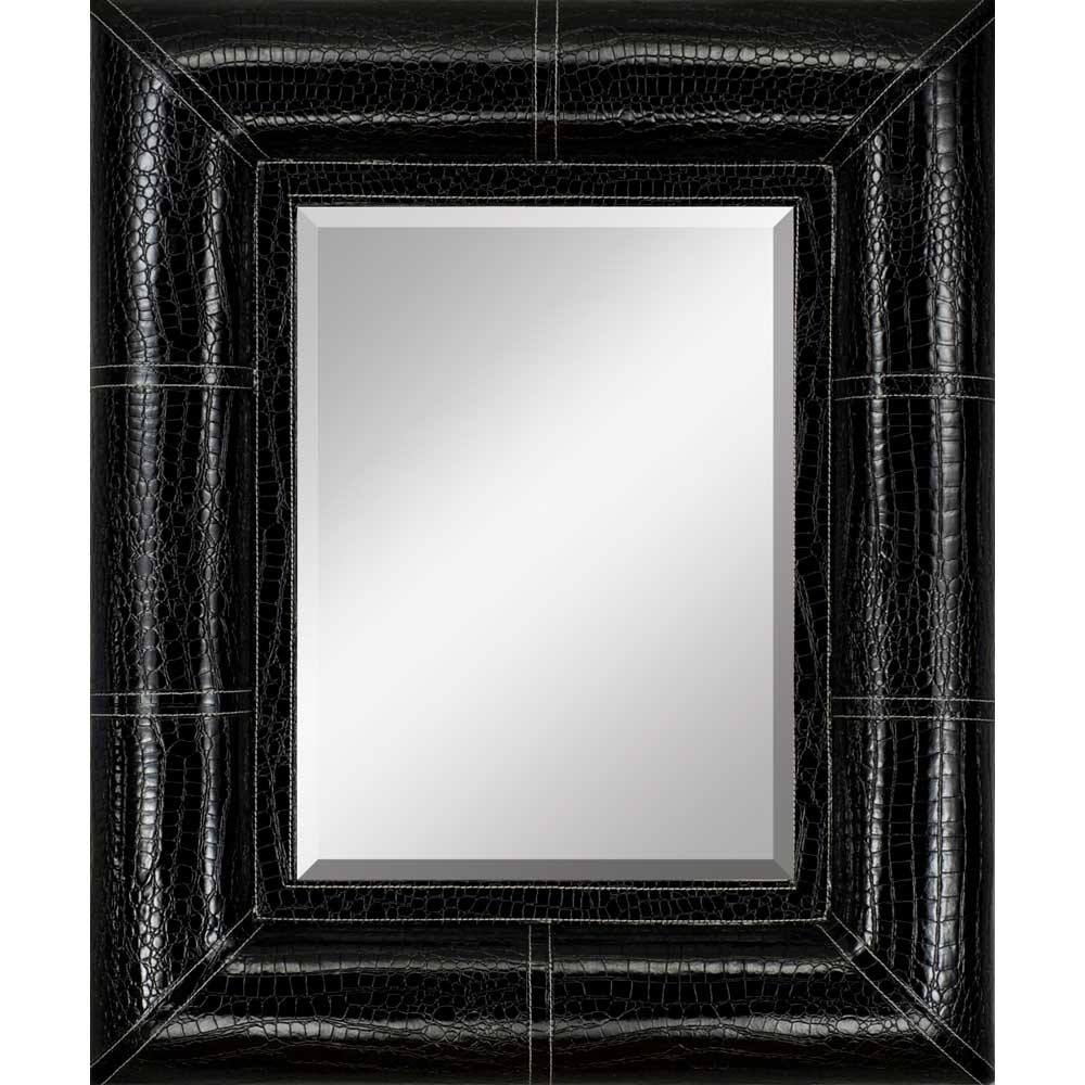 Featured Image of Black Leather Framed Mirror