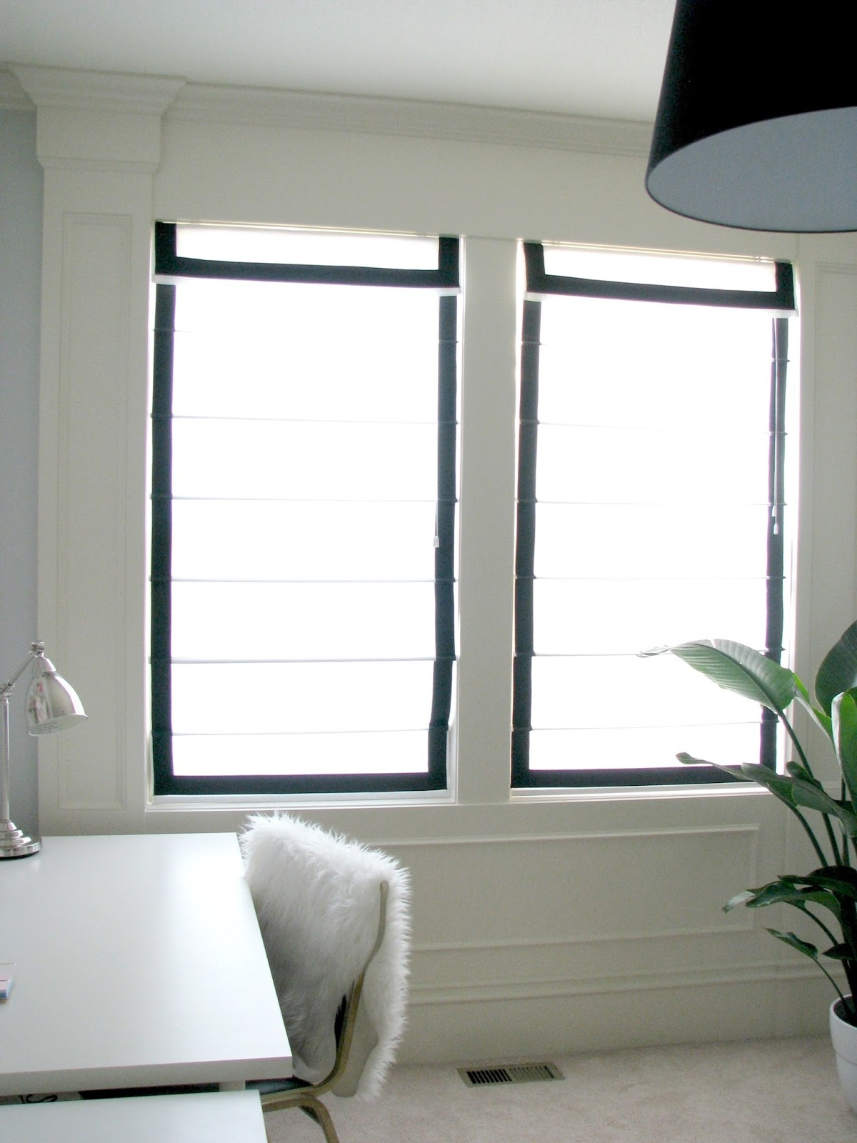 Black Roman Blinds Luxury Black Suede Roman Blinds White Bedroom Intended  For Black And White Roman