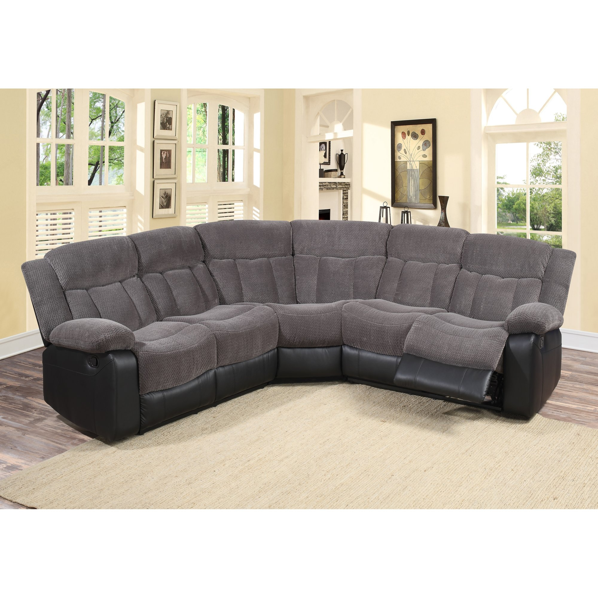 Black Sectional Sofas Youll Love Wayfair Pertaining To 6 Piece Modular Sectional Sofa (Image 3 of 15)