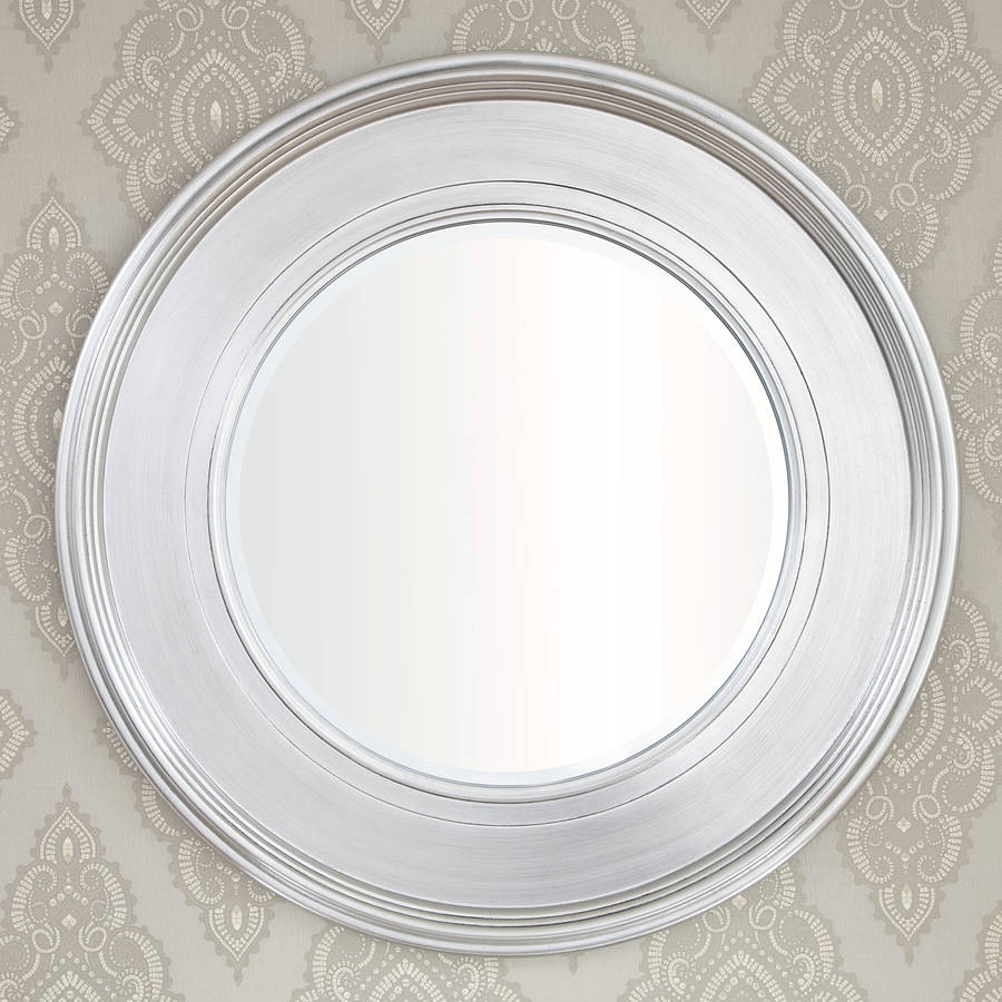 Black Silver Round Mirror Decorative Mirrors Online Intended For Round Silver Mirror (View 7 of 15)