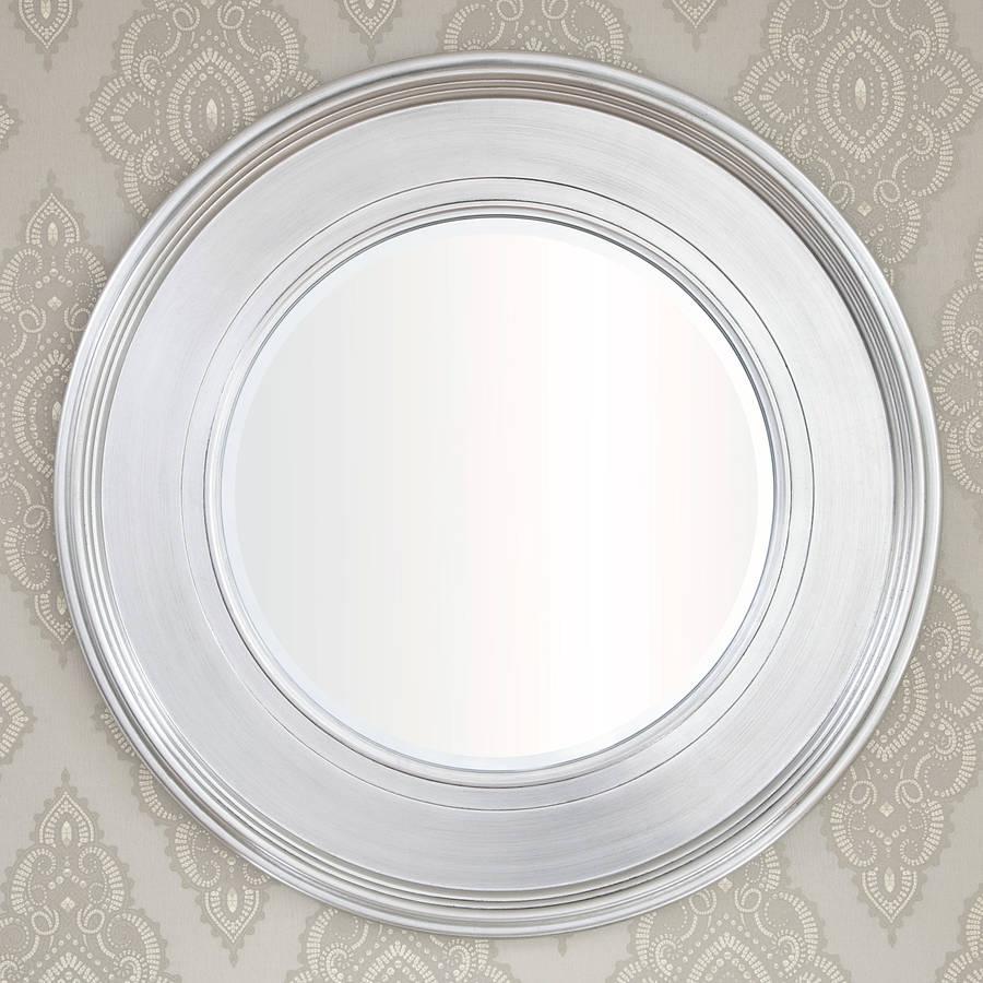 Black Silver Round Mirror Decorative Mirrors Online Throughout Silver Round Mirrors (Image 2 of 15)