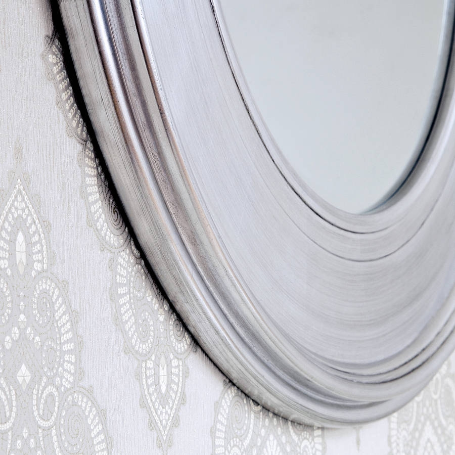 Black Silver Round Mirror Decorative Mirrors Online Within Silver Round Mirrors (Image 3 of 15)