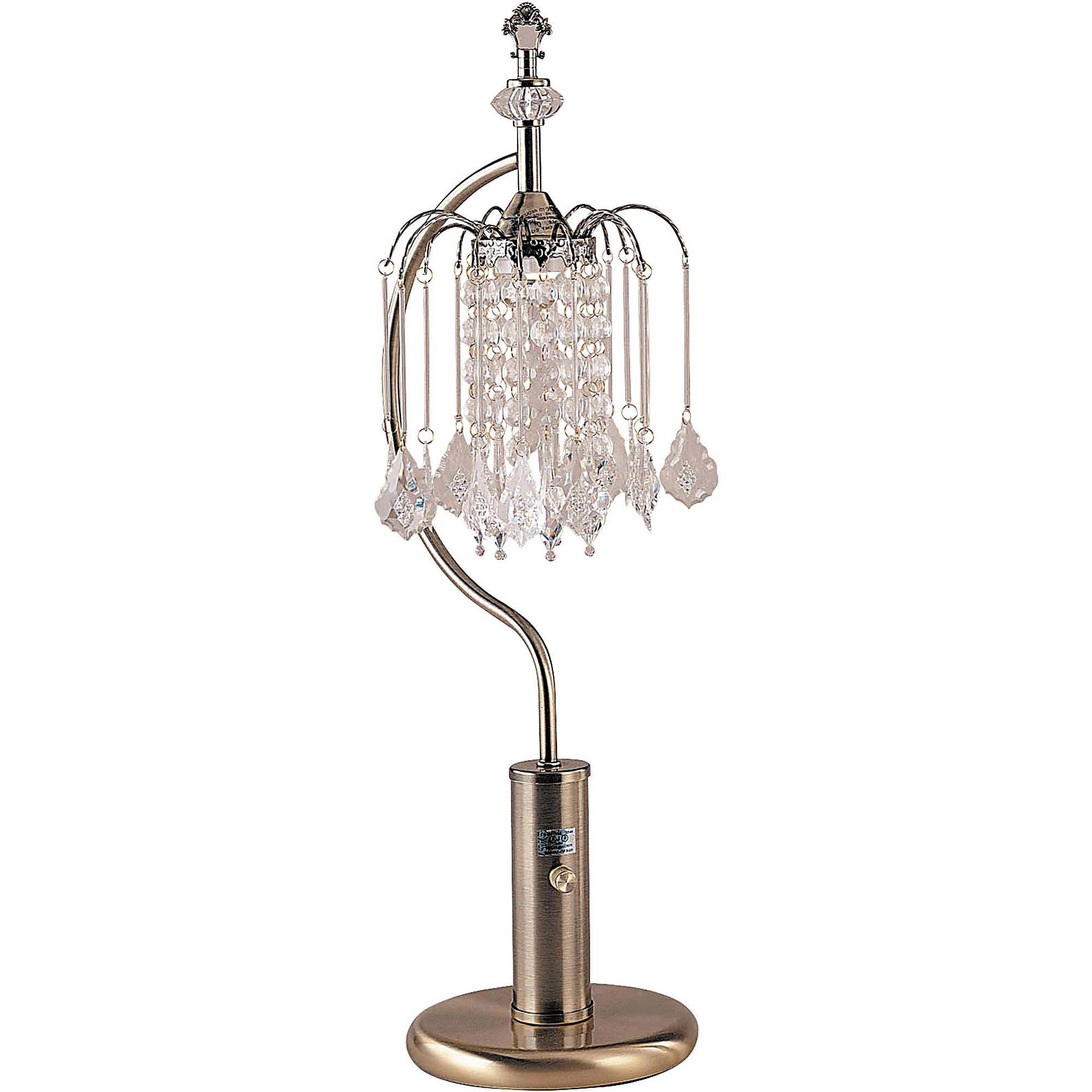 Black Table Lamp Chandelier Madison Brightech Floor Lamp With Intended For Crystal Table Chandeliers (Image 3 of 15)