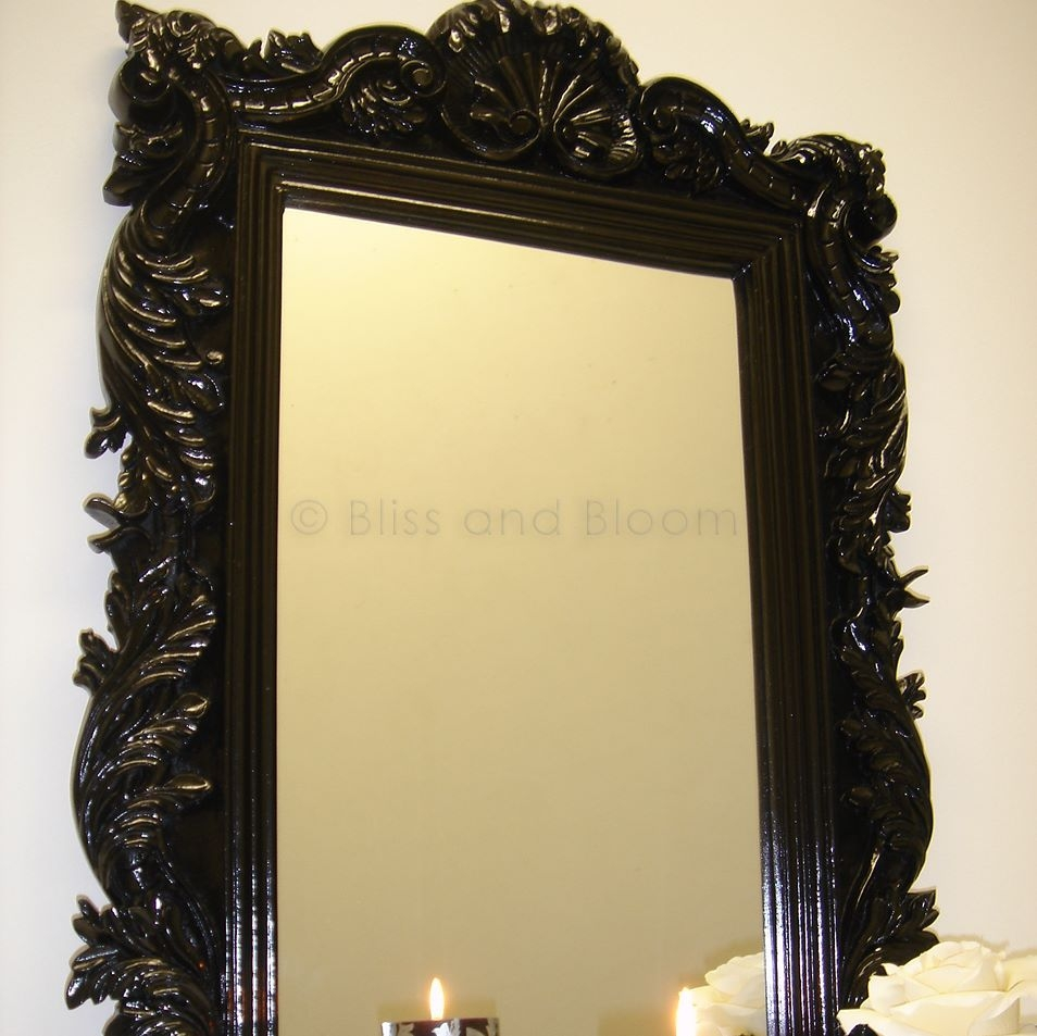 Black Wall Mirrors Mirror Design Ideas In Black Baroque Mirror (Image 10 of 15)