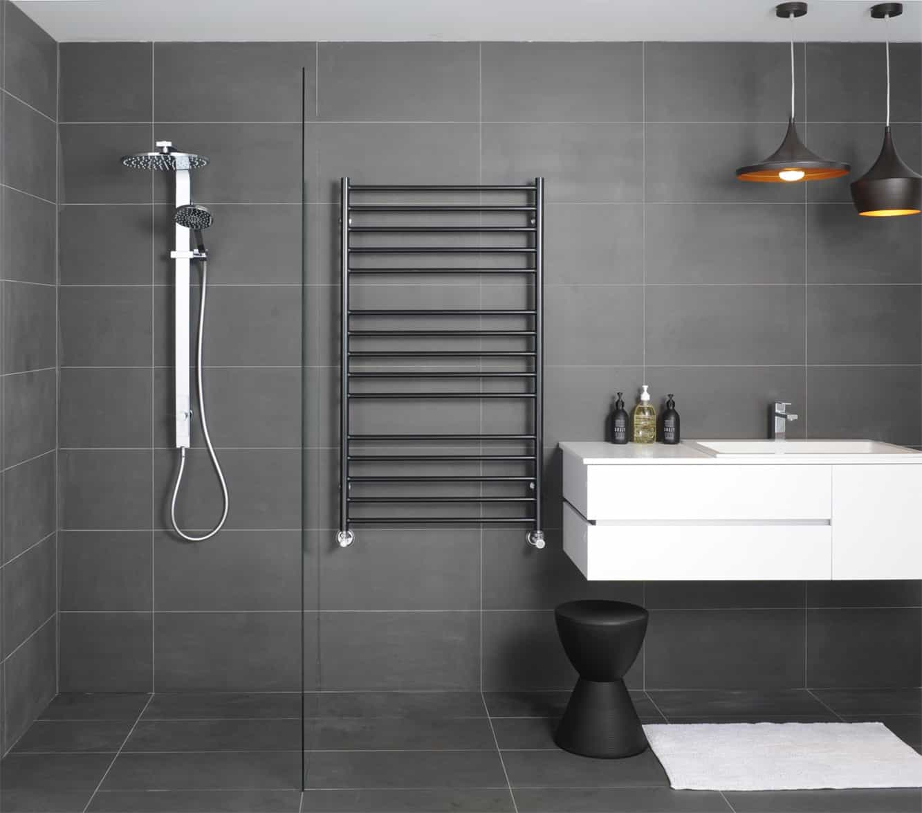 Black Wall Mounted Towel Racks For Contemporary Bathroom (Image 1 of 11)