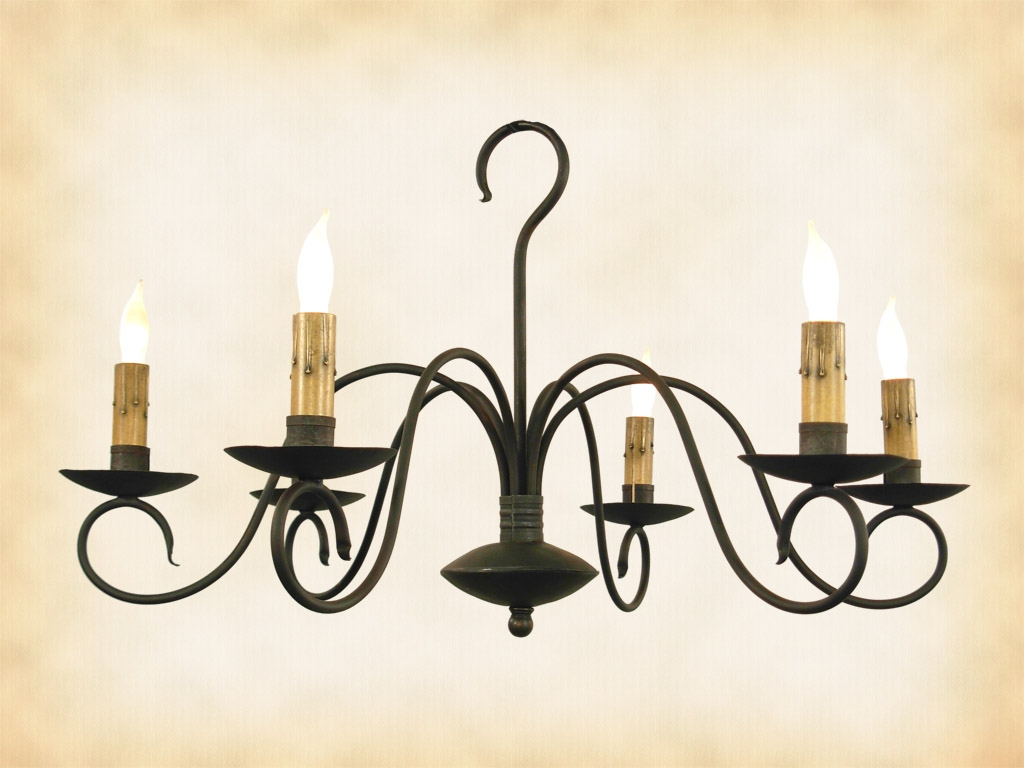 Black Wrought Iron Chandelier Lighting Roselawnlutheran Pertaining To Black Iron Chandeliers (Image 8 of 15)