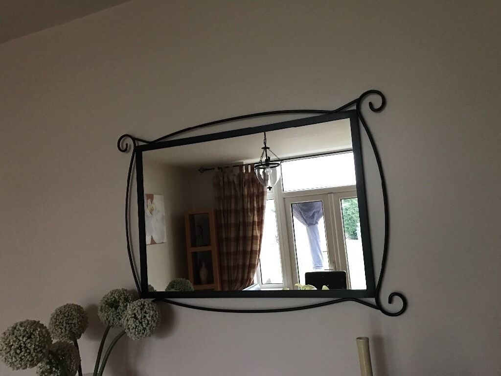 Black Wrought Iron Mirror In Brislington Bristol Gumtree For Black Wrought Iron Mirror (Image 5 of 15)