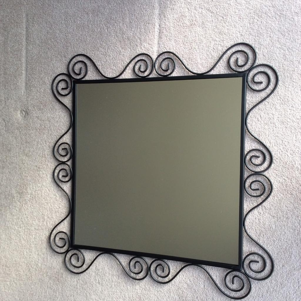 Black Wrought Iron Mirror In Hinckley Leicestershire Gumtree Intended For Black Wrought Iron Mirror (Image 6 of 15)
