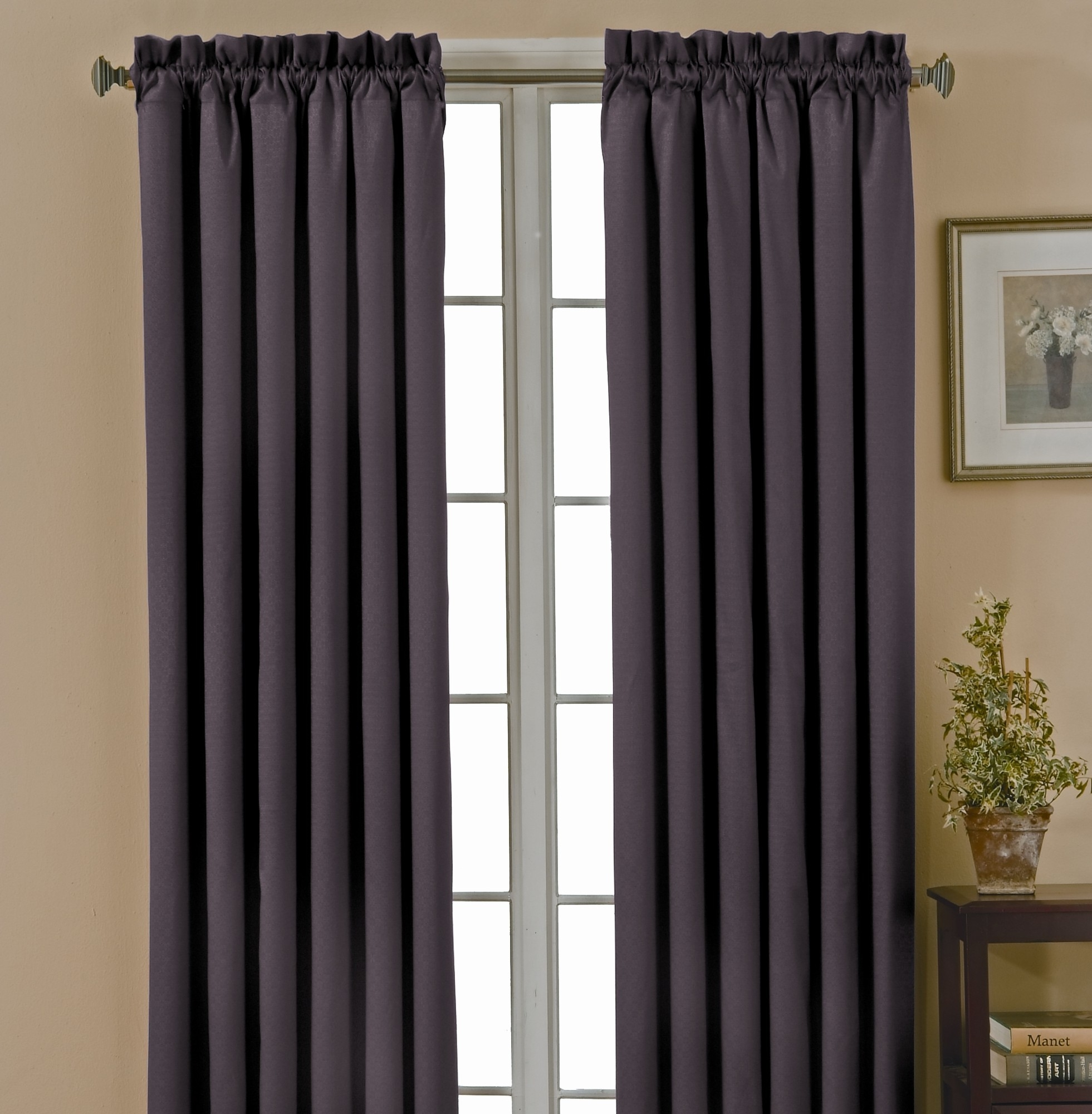 Blackout Curtain Also With A Thermal Blackout Curtains Also With A In Thick Grey Curtains (Image 3 of 15)