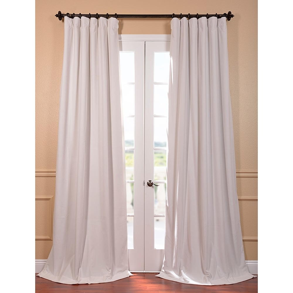 Blackout Curtains For French Doors View In Gallery French Doors For White Velvet Curtains (Image 1 of 15)