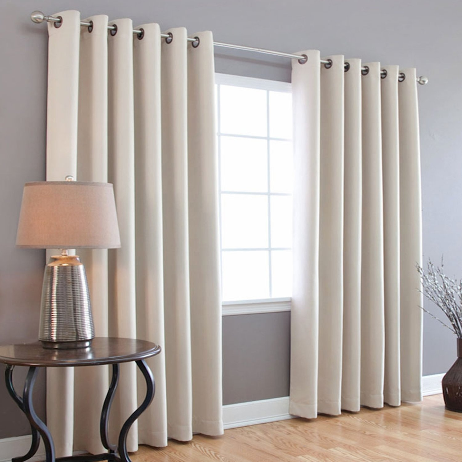 Blackout Curtains Guide With Grommets Jcpenney For Sliding Glass Within Plain White Blackout Curtains (Image 4 of 15)