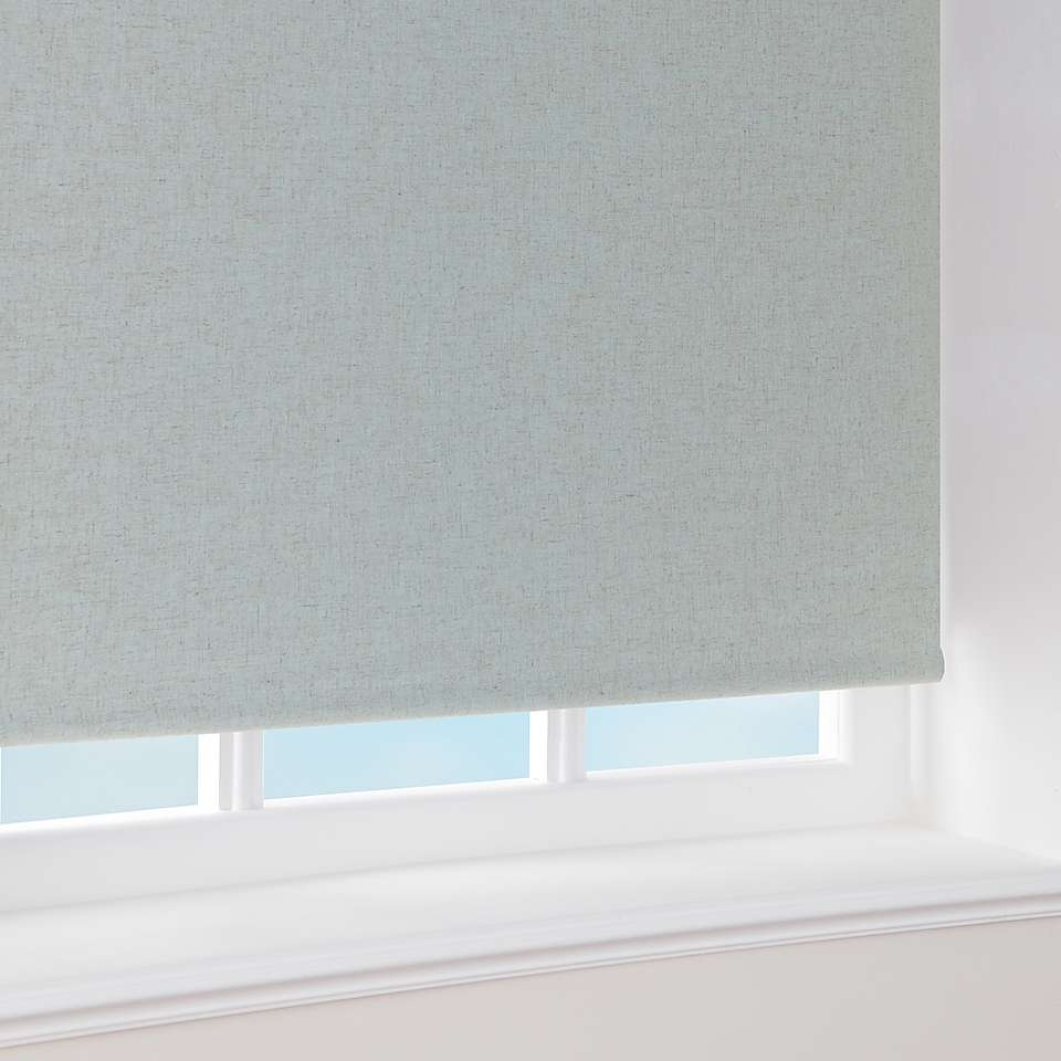 Blackout Linen Roller Blind Dunelm Guest Room Pinterest With Regard To Linen Roller Blind (Image 4 of 15)