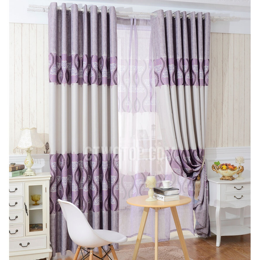 Blackout Polyester Fabric Purple Color Best Bedroom Curtains Regarding Thick Bedroom Curtains (View 6 of 15)