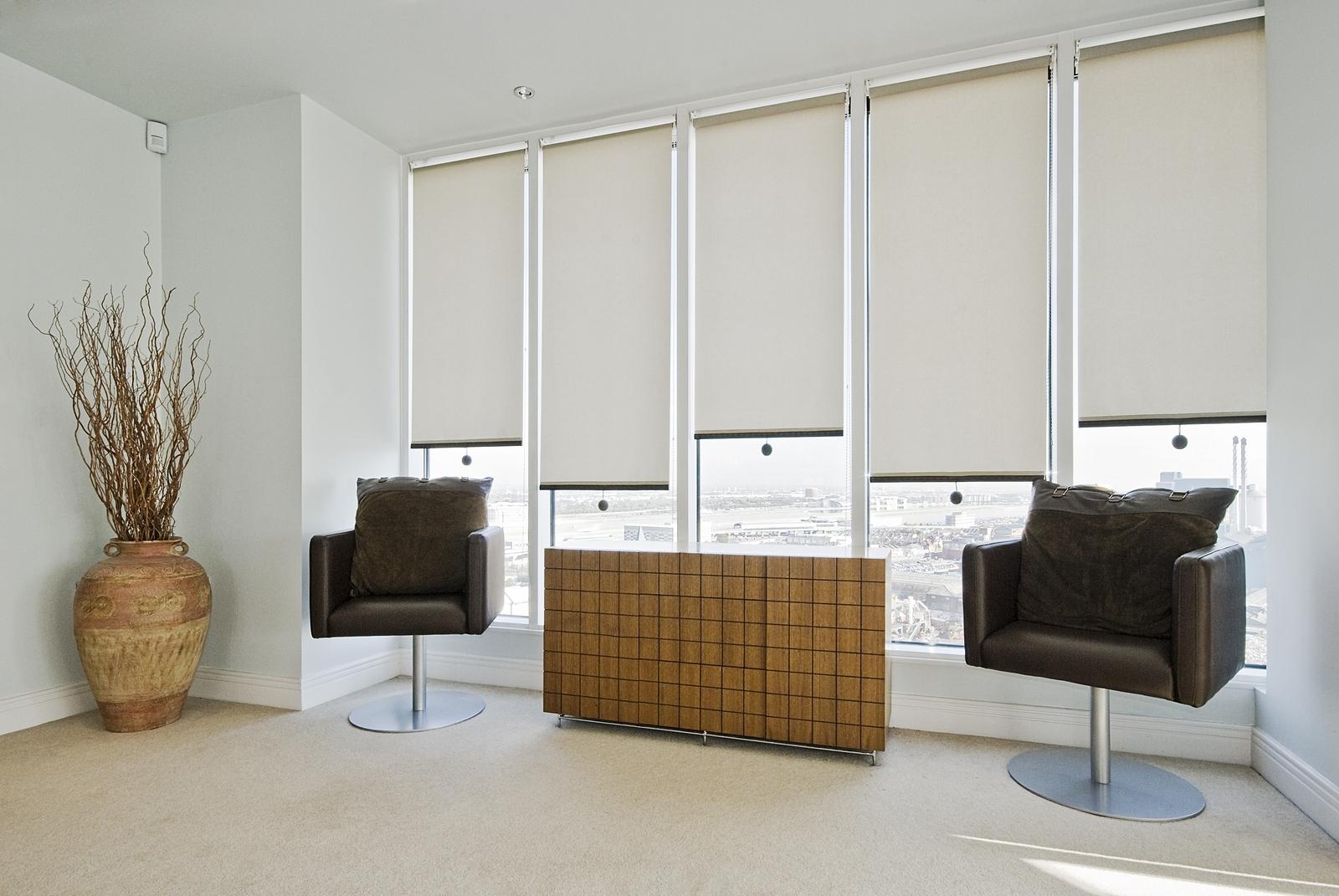 Blinds Ballarat For Cloth Roller Blinds (Image 4 of 15)