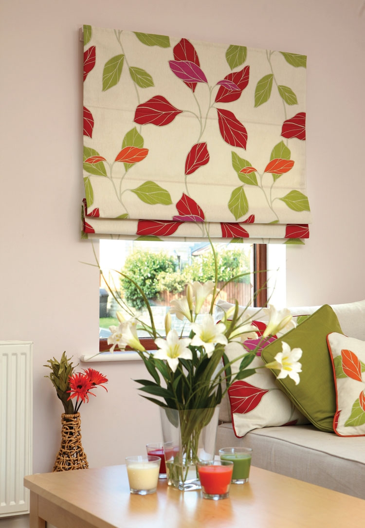 Blinds Deco Ballito Pertaining To Floral Roman Blinds (Image 6 of 15)